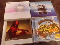 8 chillout and Ministry of sound CD sets.