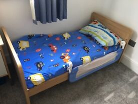 Mamas and Papas Cot bed, chest of drawers and wardrobe