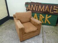 Brown Suede Sofa Armchair Delivery Available £15