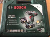 Bosch PSR 1800 Ll-2 Drill, nearly new.