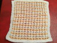 Dolls Pram/Cot Blanket Hand Knitted NEW