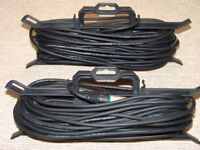 TWO x 25 Metre Sommer Cable - XLR Male to XLR Female - With FREE Cable-Tidy