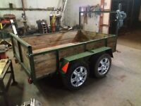 8ftx5ft twin axle trailer