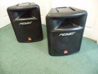 Pair of PEAVEY IMPULSE 200 SPEAKERS with Speakon cables