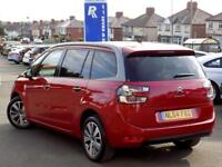 CITROEN C4 GRAND PICASSO 1.6 E-HDi AIRDREAM EXCLUSIVE 5dr 7 Seater *Sat Nav (red) 2014