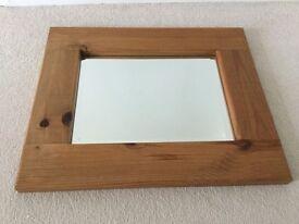 """Mirror in pine. 23.5"""" x 19"""". Heavy duty. From Dyvells in corbridge."""