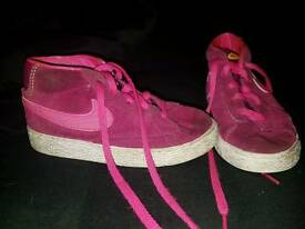 Pink and purple nike blazers size 8