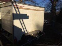 Bateson trident box trailer twin axle