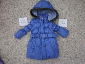 Girls Coat 12 - 18 months - Pumpkin Patch - Purple down filled coat