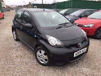 Toyota Aygo 1.0 Black 5dr, 1 FORMER KEEPER. 1 YEAR MOT. PART LEATHER INTERIOR, P/X WELCOME