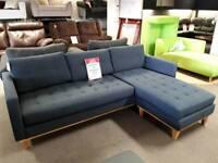 Corner sofa material blue