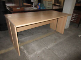 BEECH COMPUTER TABLE/DESKS - 5 AVAILABLE @ £10 EACH