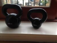 2x DKN Cast Iron Kettlebells (8kg & 16kg)