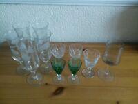 Variety of sherry glasses