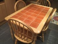 Kitchen Table (tiled top) and 4 Chairs