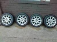 Rover 25 or 45 alloy wheels with new 185 55 15 tyres tires
