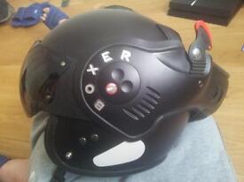 Roof Boxer helmet Matt black V8