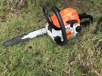 stihl ms170 chainsaw ready for work