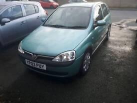 Vauxhall Corsa 1.2 low miles good condition