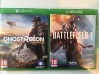 Ghost Recon Wildlands / Battlefield One - Xbox One