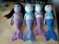Crocheted mermaid doll handcrafted