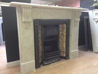 Period Corbel marble fireplace.