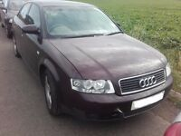 2003 Audi A4 B6 2.0 FSI manual saloon red BREAKING FOR PARTS SPARES