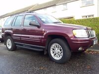 JEEP GRAND CHEROKEE CRD LTD EDITION ESTATE FITTED WITH AN AUTOMATIC GEARBOX AND 2.7LT DIESEL ENGINE