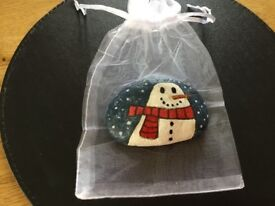 Hand painted Christmas Stones