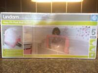 Pink Lindam easy fit bed guard new in box unused