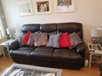Double Recliner 3 Seater Leather Sofa