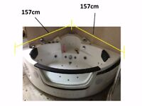 Whirlpool Spa Massage Jacuzzis Corner Bath Shower 2 person Double Bathtub and spare pumps