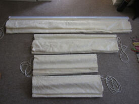 Hillarys - Alice Ivory Roman Blinds x 4