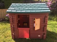 Little tikes children's kids playhouse garden log cabin