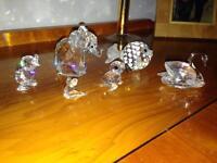 Collection of Swarovski crystal animals