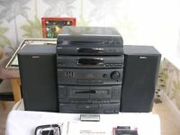 Sony compact hi-fi stereo system LBT-A190 - turntable, radio, equaliser,cd, double tape