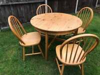 Ikea round table and dining chairs