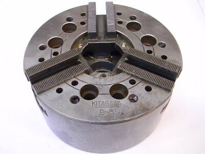 Used Kitagawa B-6 Power Chuck 6.50 Diameter 3-jaw Lathe Plain Back Mount