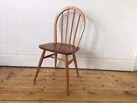 Ercol Hoopback Kitchen Dining Chair Natural Colour Wear and Marks