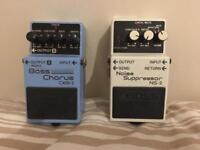Boss Bass Chorus pedal and Boss Noise Suppressor pedal