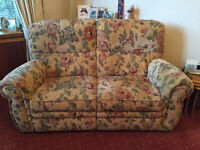 2 x two seater sofas plus armchair – priced for a quick sale