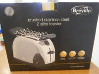 Breville Toaster Brushed stainless 2 slice toaster with rack. New in Box