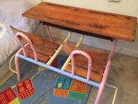 Vintage French school desk