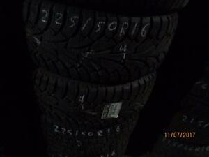 225/50R16 2 ONLY USED HANKOOK WINTER TIRES