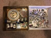 Vintage thimble and miniature collection