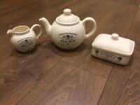 Charlotte Watson Breakfast set (Teapot, creamer jug and butter dish)