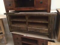 Rustic oak tv unit two sizes available
