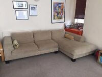 Large Comfy L-shaped Sofa / Couch
