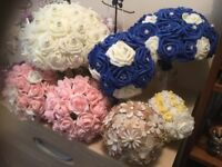 Bouquets i have a large stock ofone off flower,pearl and button bouquets, balls and hearts
