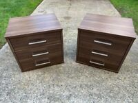 4 piece bedroom furniture - 2 bedside cabinets and 2 chest of drawers